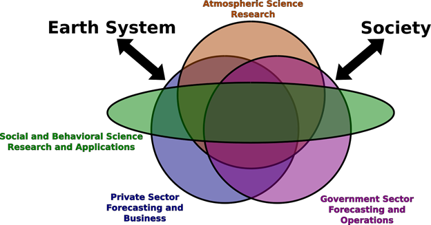 Figure 1. Schematic representation of the diverse career options and their intersections.