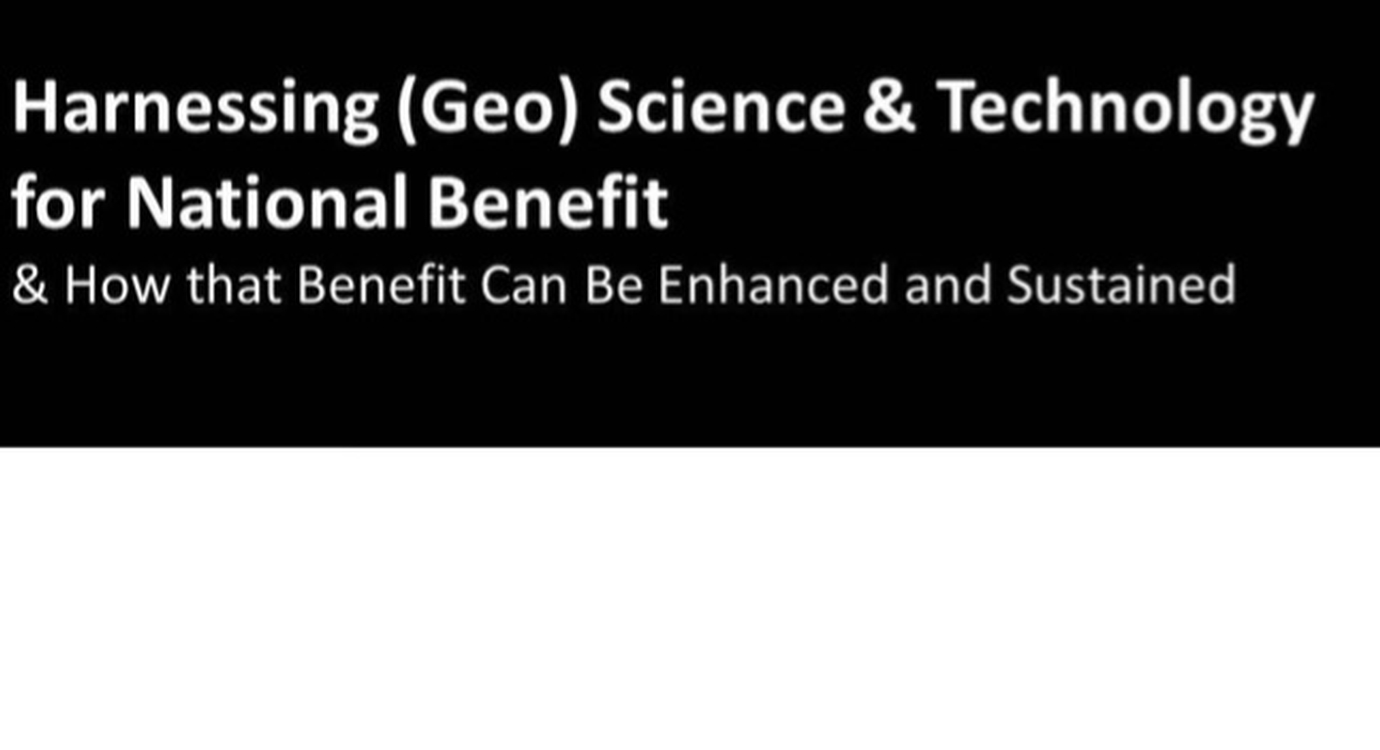 Harnessing Science and Technology for National Benefit