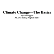 Climate Change--The Basics