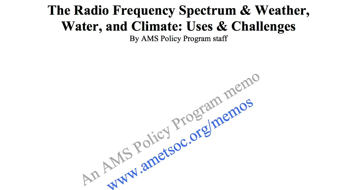 The Radio Frequency Spectrum and Weather, Water, and Climate: Uses and Challenges